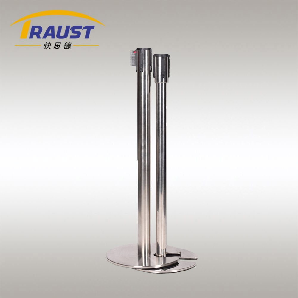 Retractable Belt Stanchion with Stackable Iron Base--BP-36IK.jpg